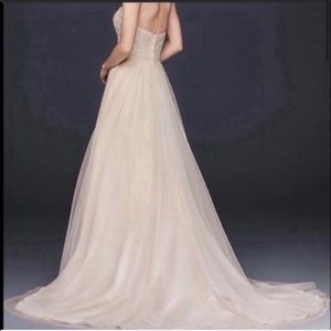 David's Bridal Champagne Wedding Dress